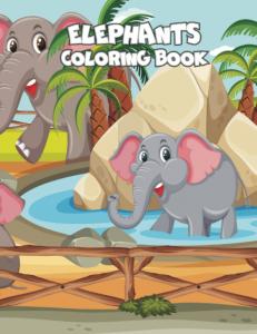Elephants - coloring book