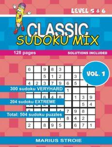 Classic Sudoku Mix- level 5 & 6, nr.1