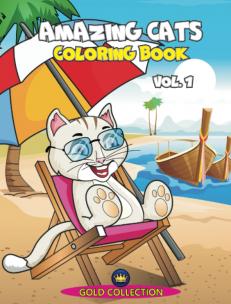 Amazing Cats - coloring book, vol.1