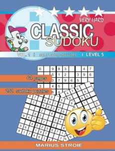 Classic Sudoku – very hard – nr.1